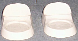 Pair Vintage Pottery Cup Saucer Display Holders