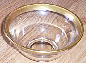 Lovely Simplistic Gold Rim Mayo Bowl (Image1)