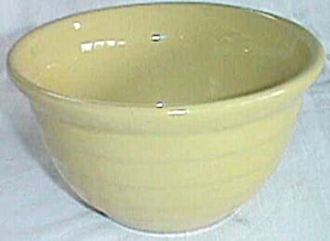 Small Yelloware Ribbed Bowl Yellowware