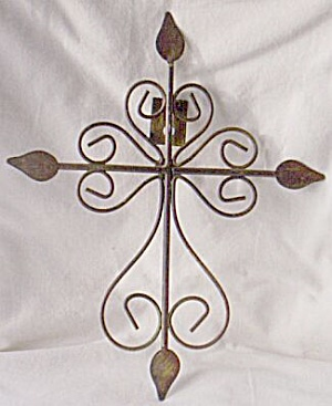 Stunning Bent Metal Crucifix  (Image1)