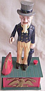 Vintage Uncle Sam Mechanical Bank (Image1)