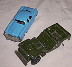 Tootsie Toy Jeep and Friction Car (Image1)