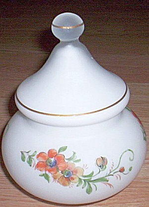Italian Glass Covered Jar Norleans (Image1)