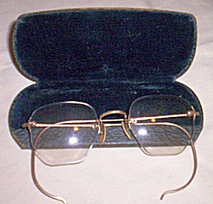 Vintage 12 KT Gold Filled Glasses w/ Case (Image1)