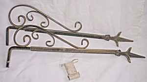 Pair Antique Sliding Curtain Rods (Image1)