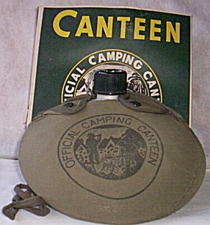 Vintage Official Camping Canteen With Original Box