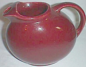 Vintage Maroon Water Pitcher Ice Lip Squished Ball (Image1)