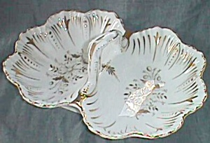 Antique Kister Porcelain MFG. 2 Section Serving Dish (Image1)