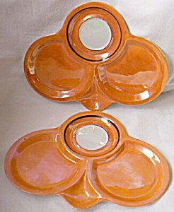 2 Rudolf Wachter Porcelain Snack Plated Luster Free Shi (Image1)