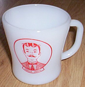 Federal Glass Character Mug Uncle John