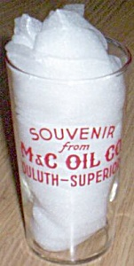 Federal Glass Advertising Jelly Jar M&C Oil Co (Image1)