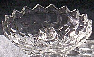 Cube or Cubist Candle Bowl Jeannette Glass (Image1)