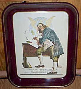 1976 Saturday Evening Post Metal Tray (Image1)