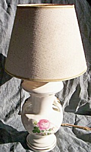 Vintage Small Lamp Rose Transfer (Image1)