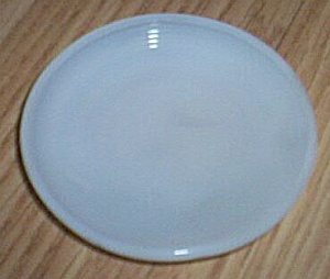 Akro Agate Concentric Rib Single White Saucer