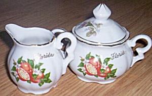 Vintage Souvenir Cream Sugar Florida (Image1)