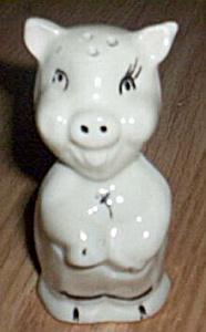 Vintage American Bisque Pig Shaker (Image1)