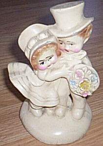 Chalkware Honeymoon Couple Figurine/Bookend (Image1)