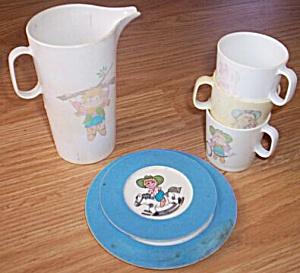 5 pc Set Chilton Toys Plastic Dishes (Image1)