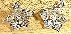 Vintage Filigree Screw on Earrings Flowers Free Shipping (Image1)