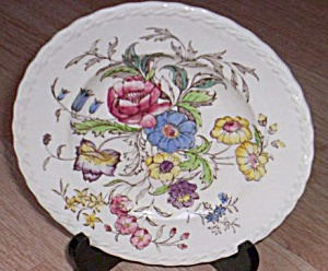 Vernon Kilns May Flower Salad Plate (Image1)