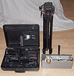 Vintage Panasonic Video Camera Lights & Tripod