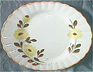 Blue Ridge Platter Colonial Shape Country Road Pattern (Image1)