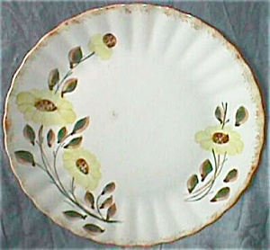 4 Blue Ridge Pottery Dinner Plates Colonial Shape Count