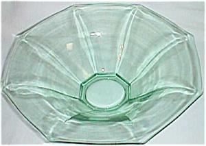 Lovely Octagon Flare Panel Green Depression Bowl (Image1)