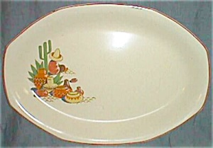 Excellent Vintage Mexican Scene Serving Platter (Image1)