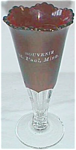 Ruby Flash Souvenir Vase St. Paul MN Free Shipping (Image1)