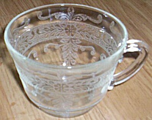 "MacBeth-Evans ""S"" Pattern Stippled Rose Band Coffee Cup and Saucer (Image1)"