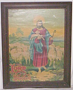 "Beautiful ""Lord is my Shepherd"" Litho Original Frame (Image1)"