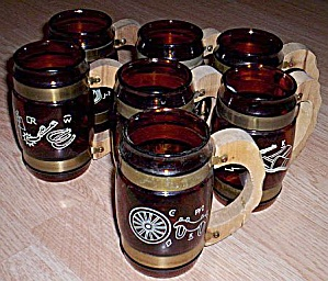 7 Siestaware Glass Beer Mugs (Image1)