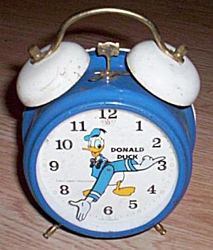 Rare Donald Duck Disney Alarm Clock (Image1)