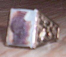 Vintage Sterling Man's Cameo Ring