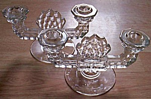 Pair Fostoria American Candle Holders
