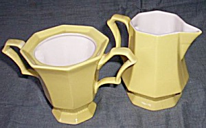 Independence Ironstone Daffodil Cream & sugar (Image1)