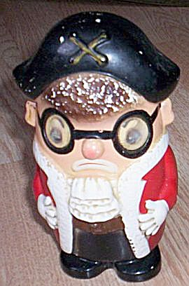 Chubby Figural Pirate Bank Moving Eyes