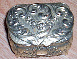 Vintage Silver Metal Jewelry Casket (Image1)