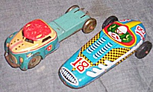 Old Tin Cars Friction Racer Truck Free Shipping