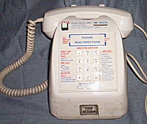 Vintage Telco Desktop Pay Phone Pay Station