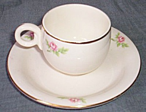 Homer Laughlin Swing Demitasse Cup Saucer