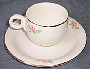 Homer Laughlin Swing Demitasse Cup Saucer (Image1)