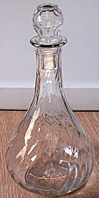 Vintage Hazel-atlas Decanter Swirl Pattern