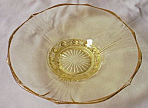 Lancaster Glass Topaz Dish Cable Pattern