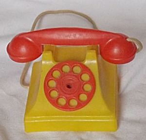 Vintage Plastic Toy Telephone