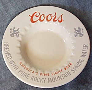 Vintage Coors Advertising Ashtray
