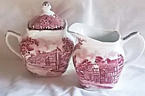 Grindley English Country Inns Cream & Sugar Set