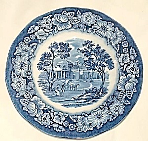 Staffordshire Bread & Butter Plate Liberty Blue